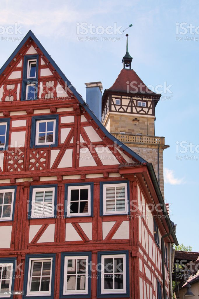 Traditional German Timber Frame House In Waiblingen Stock Photo ...