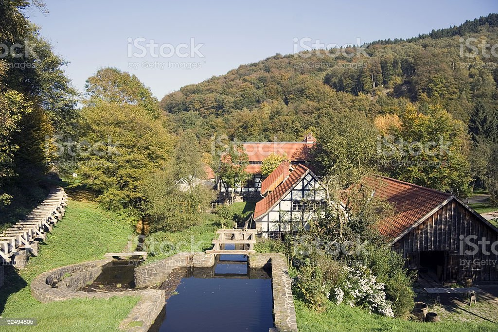 traditional german village in autumn royalty-free stock photo