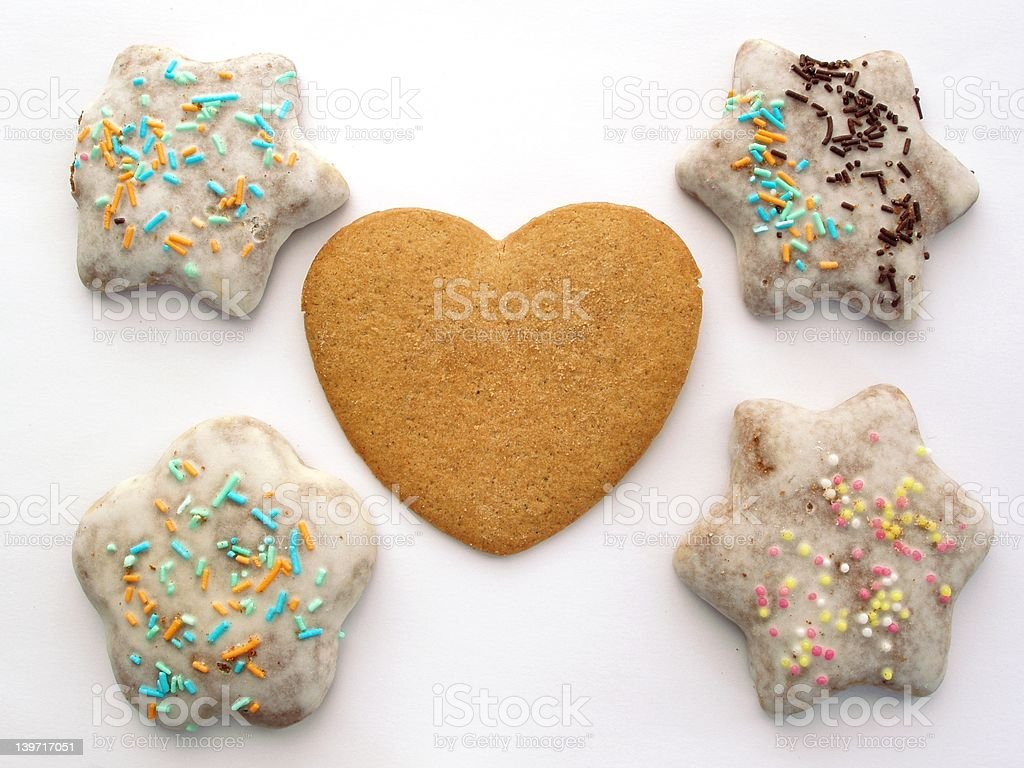 Traditional Gingerbread Cakes royalty-free stock photo