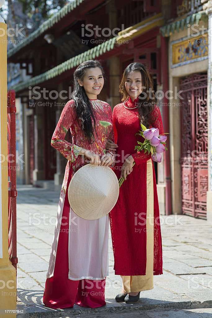 Traditional girls stock photo