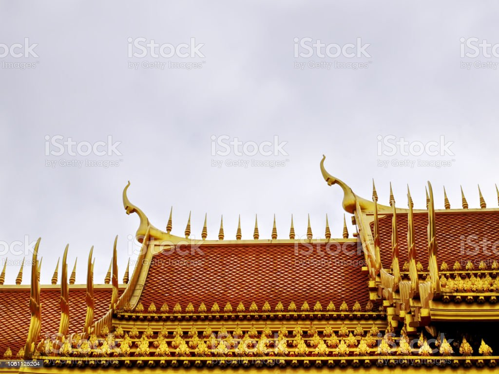 Traditional Golden Roof Design Of Buddhist Temple In Thailand Stock Photo Download Image Now Istock