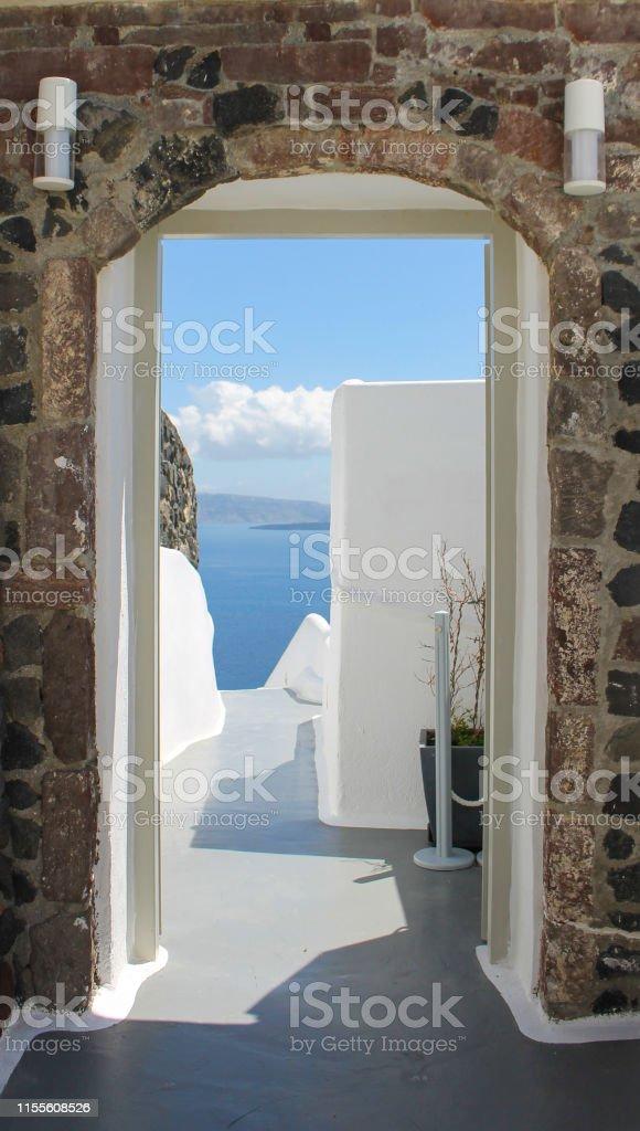 Traditional Greek Cave House Santorini Oia Thira Landscape