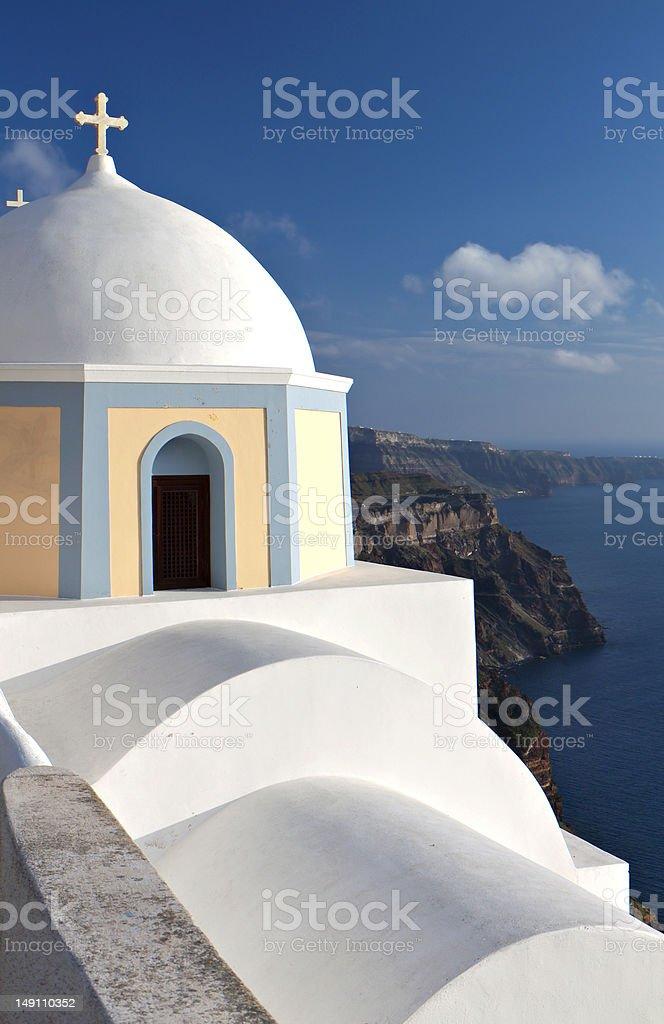 Traditional Greek church stock photo