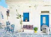istock Traditional Greek coffee shop in Naxos, Greece 1267863578