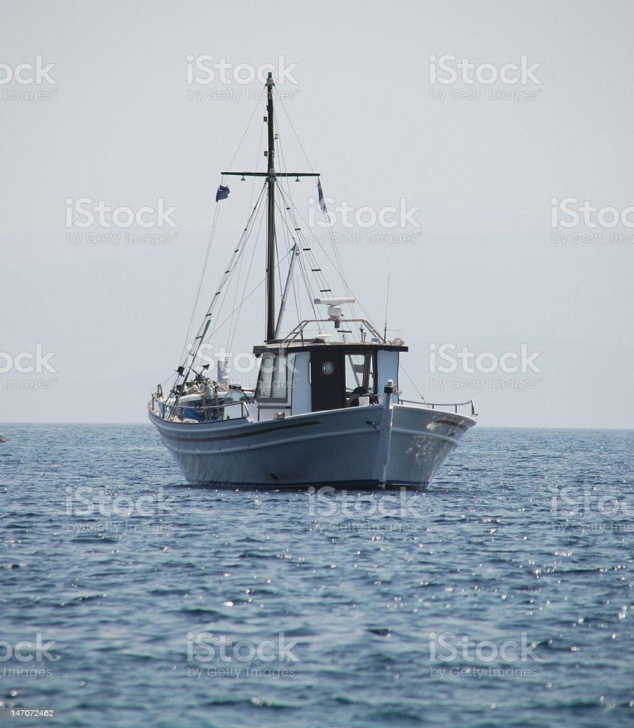 Traditional Greek fishing boat royalty-free stock photo