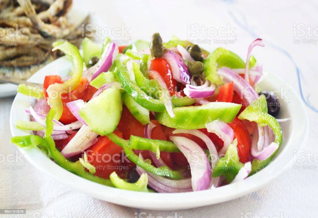 traditionele Griekse salade royalty free stockfoto