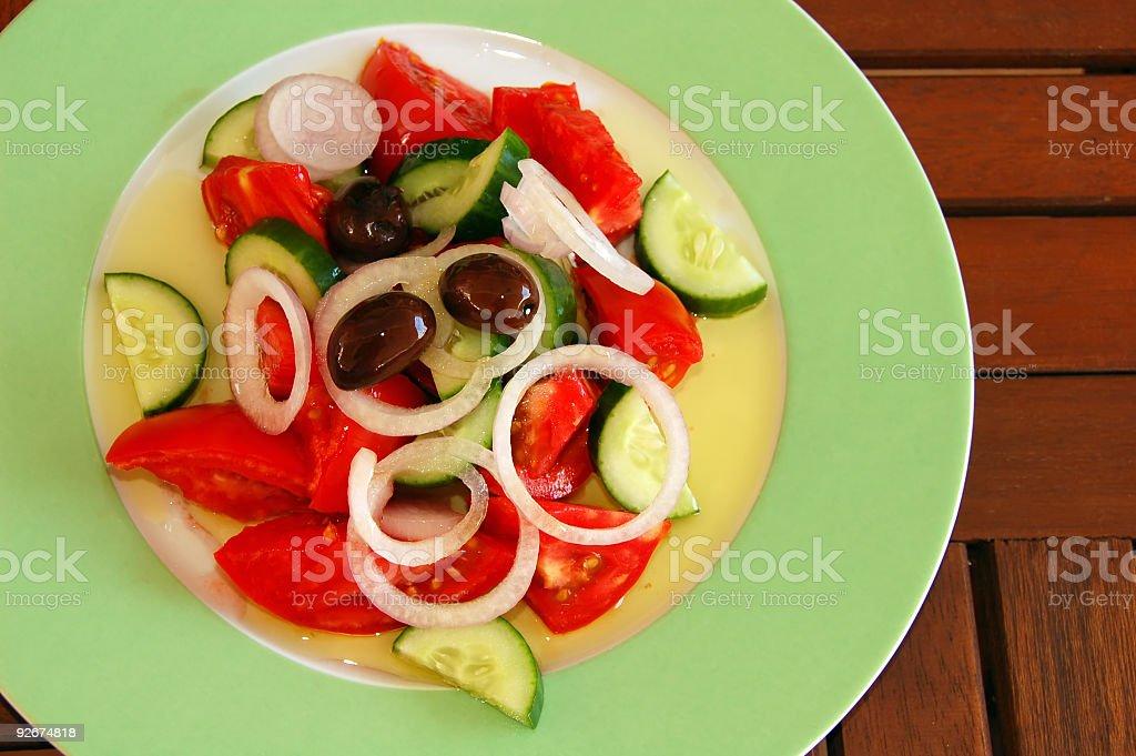 traditional greek salad stock photo