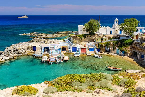 Traditionellen griechischen village by the sea – Foto