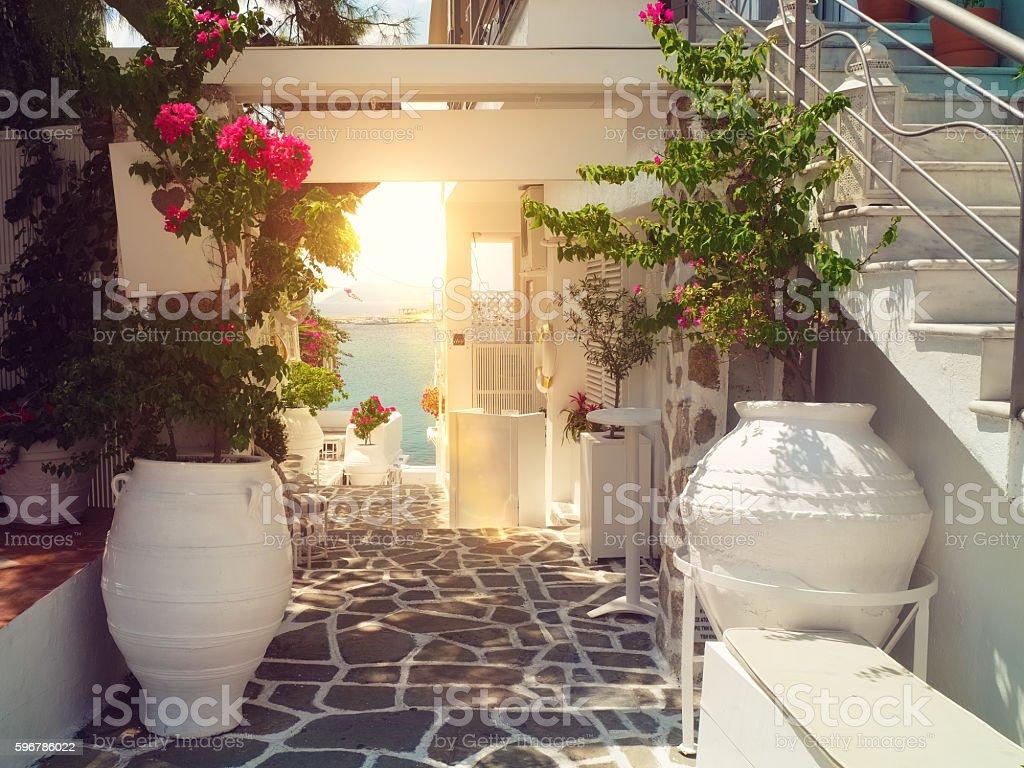 Traditional greek yard – Foto