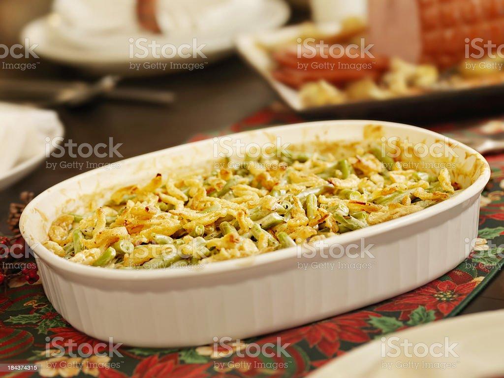 Traditional Green Bean Casserole stock photo