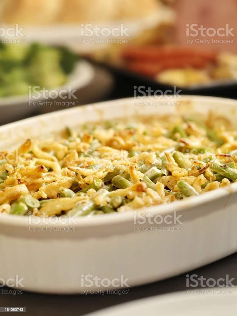 Traditional Green Bean Casserole royalty-free stock photo