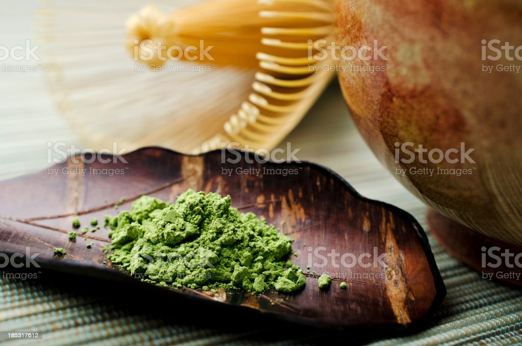 Traditional Green Tea stock photo