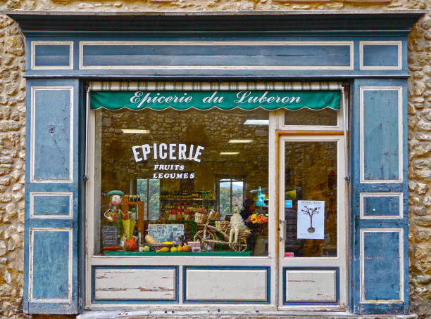 Traditional grocery in Provence, France stock photo