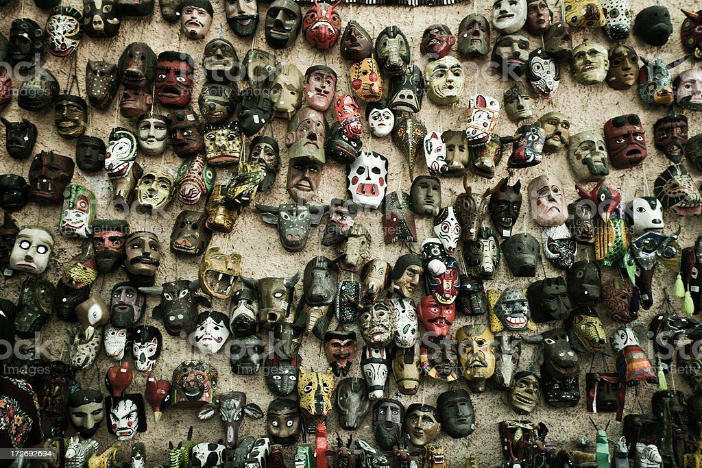 Traditional Guatemalan Masks stock photo