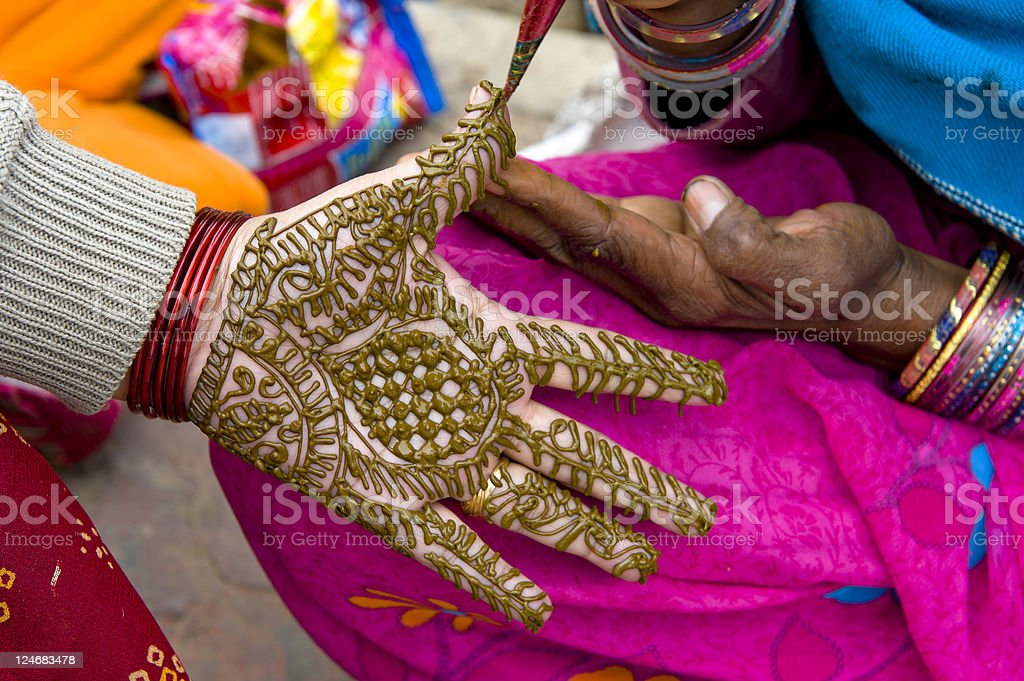 Traditional hand drawing art royalty-free stock photo