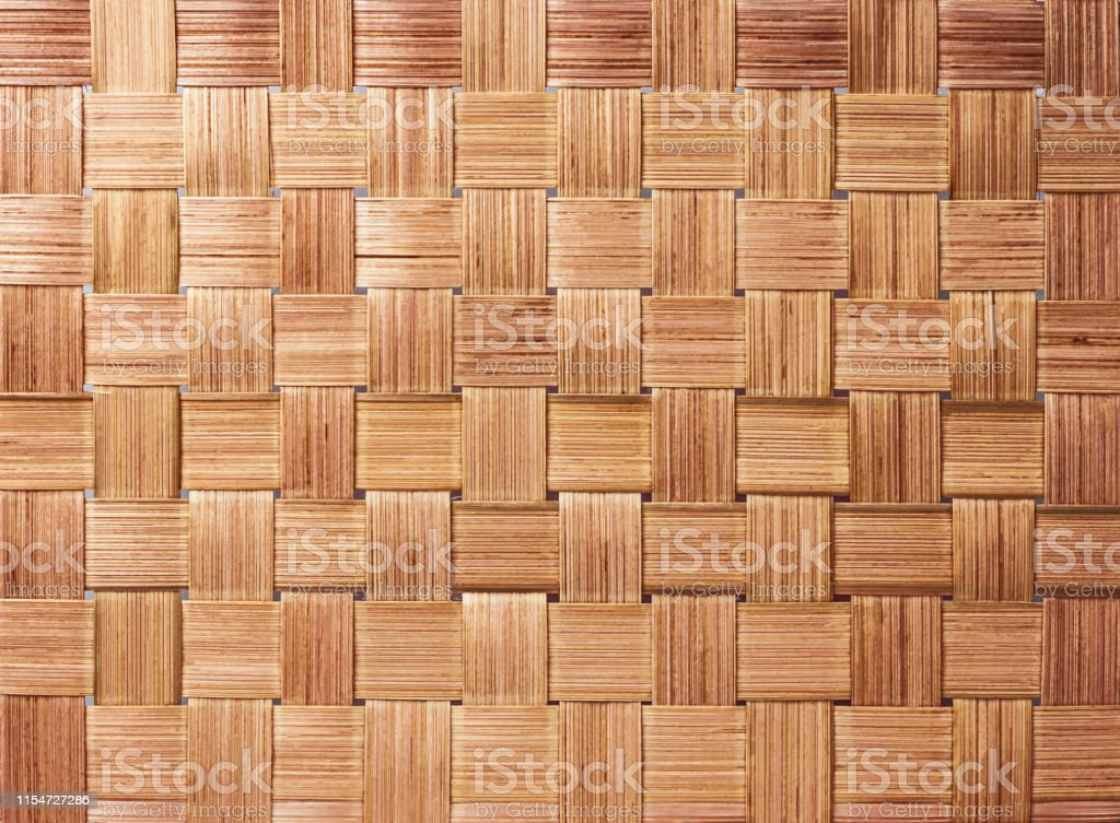 Traditional handcraft weave pattern background. Texture of woven...