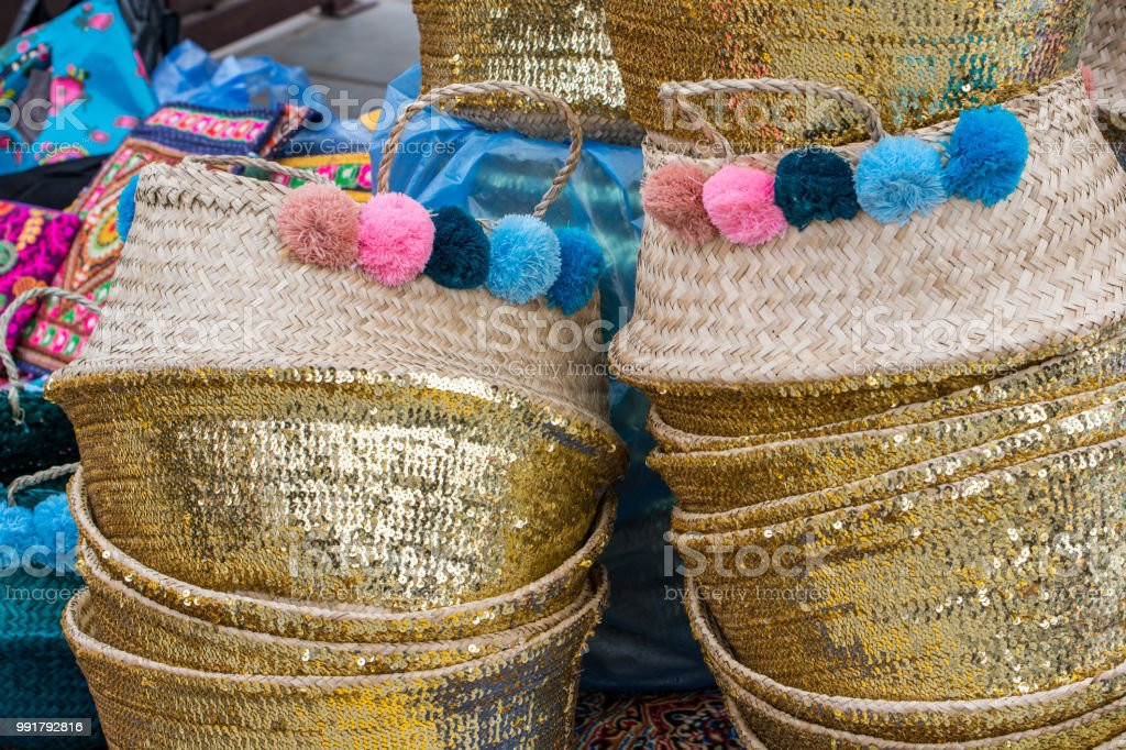 traditional handcrafts from Saudi Arabia stock photo