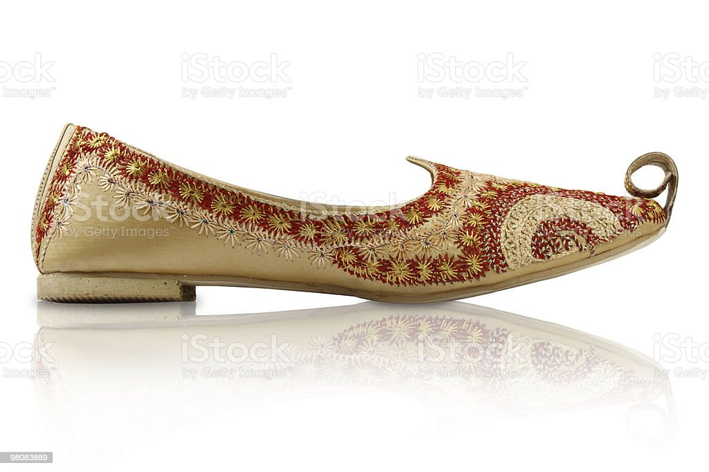 Traditional Handicraft indian shoes royalty-free stock photo