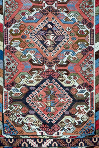Traditional handmade Turkish Carpet.. stock photo