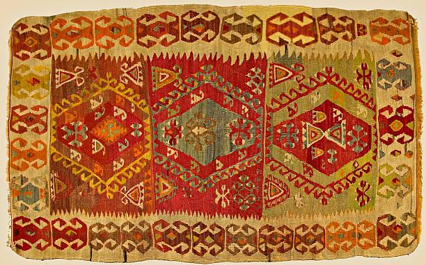Traditional handmade Turkish Carpet stock photo