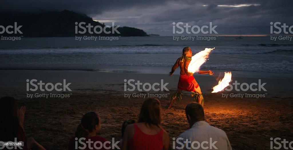 Traditional Hawaiian Dance stock photo