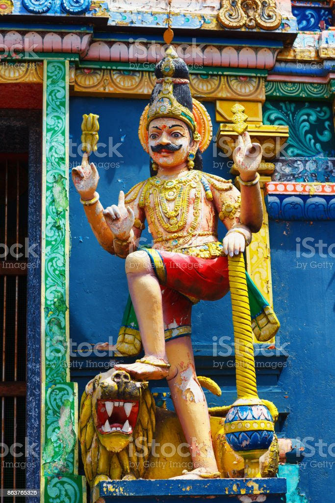 A traditional Hindu temple in Galle road 8000, Colombo, Sri Lanka stock photo