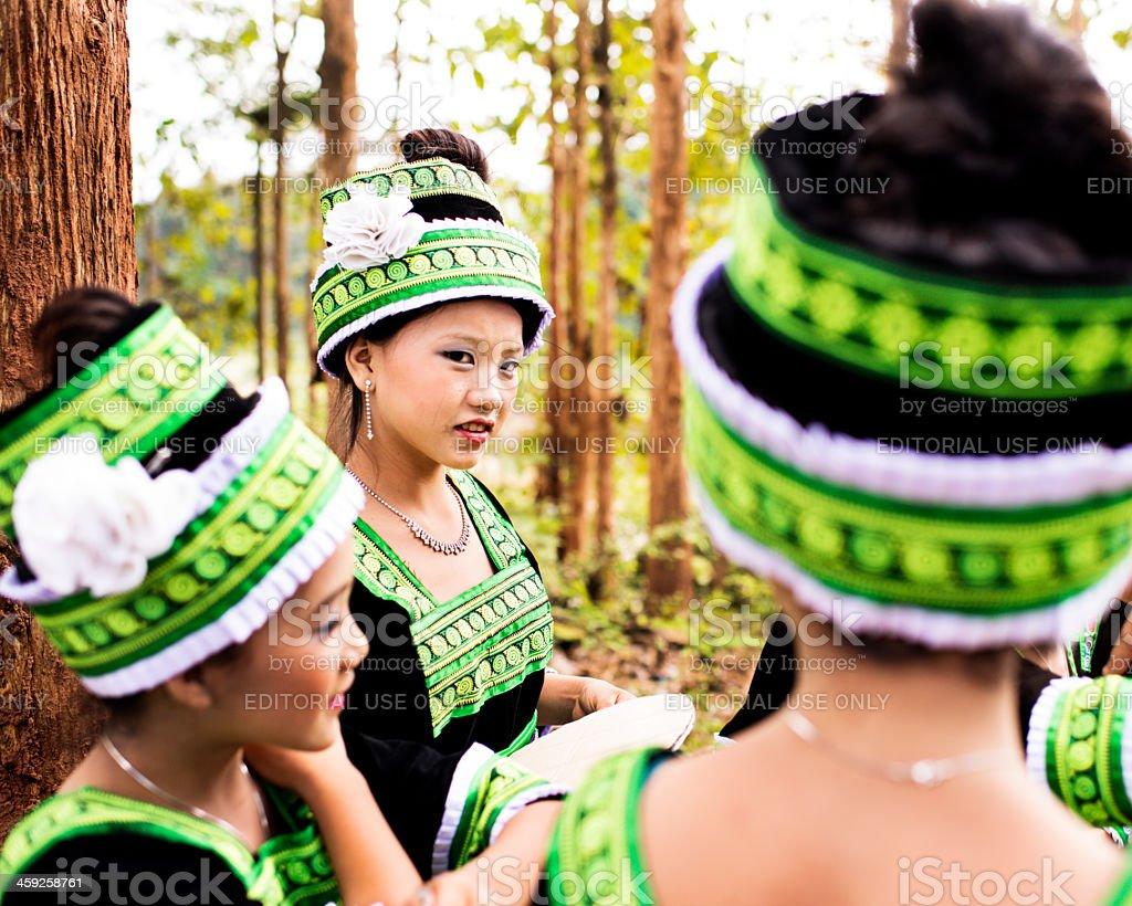 Traditional Hmong Dress stock photo