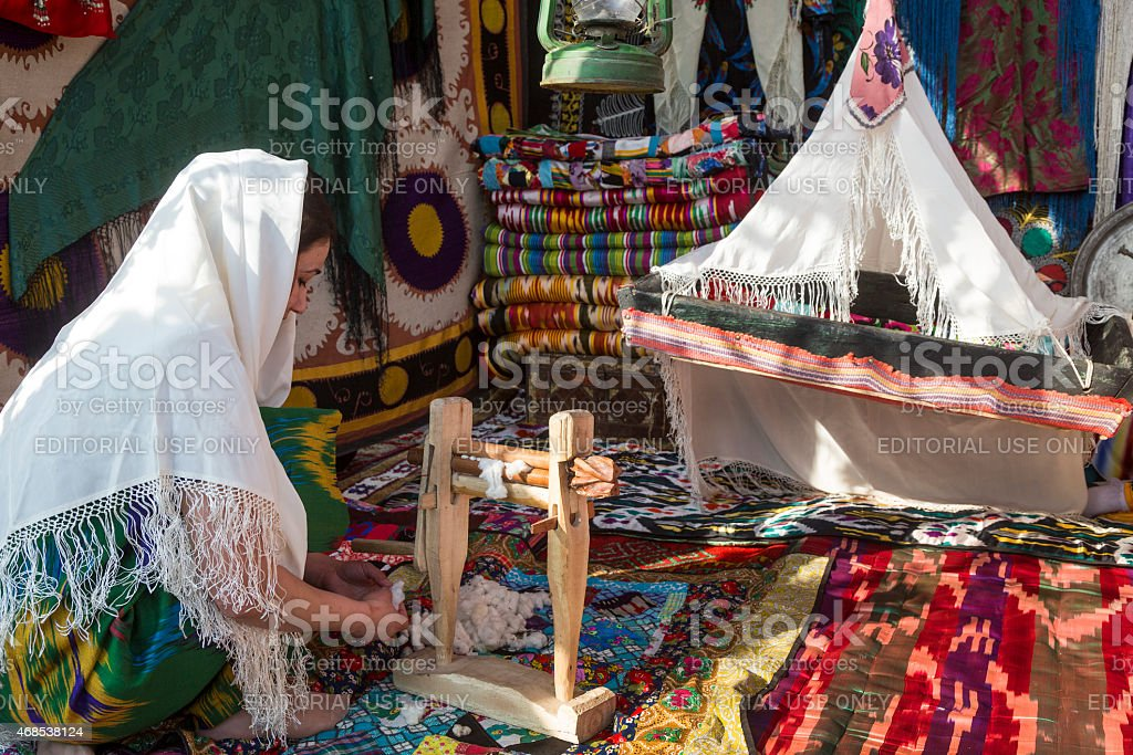 Traditional home lifestyle in Central Asia stock photo