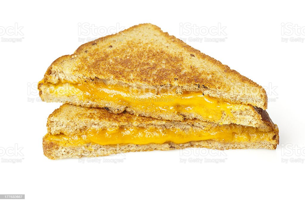 Traditional Homemade Grilled Cheese Sandwich royalty-free stock photo