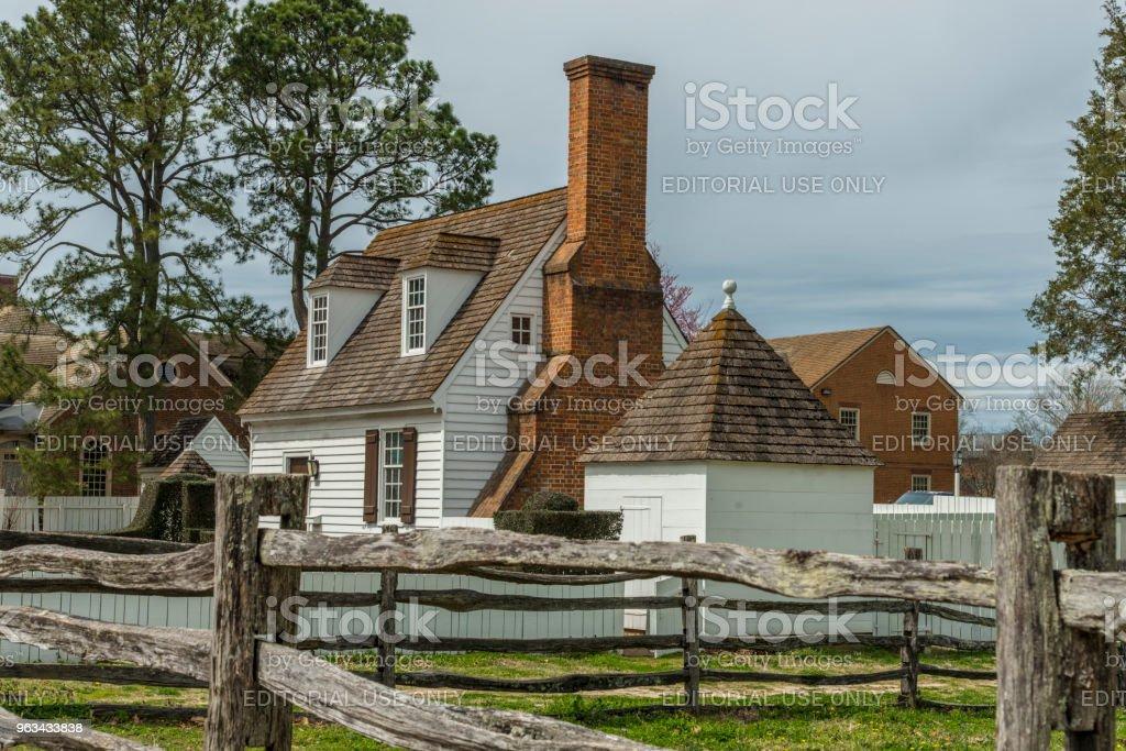 Maison traditionnelle à Williamsburg colonial - Photo de Architecture libre de droits