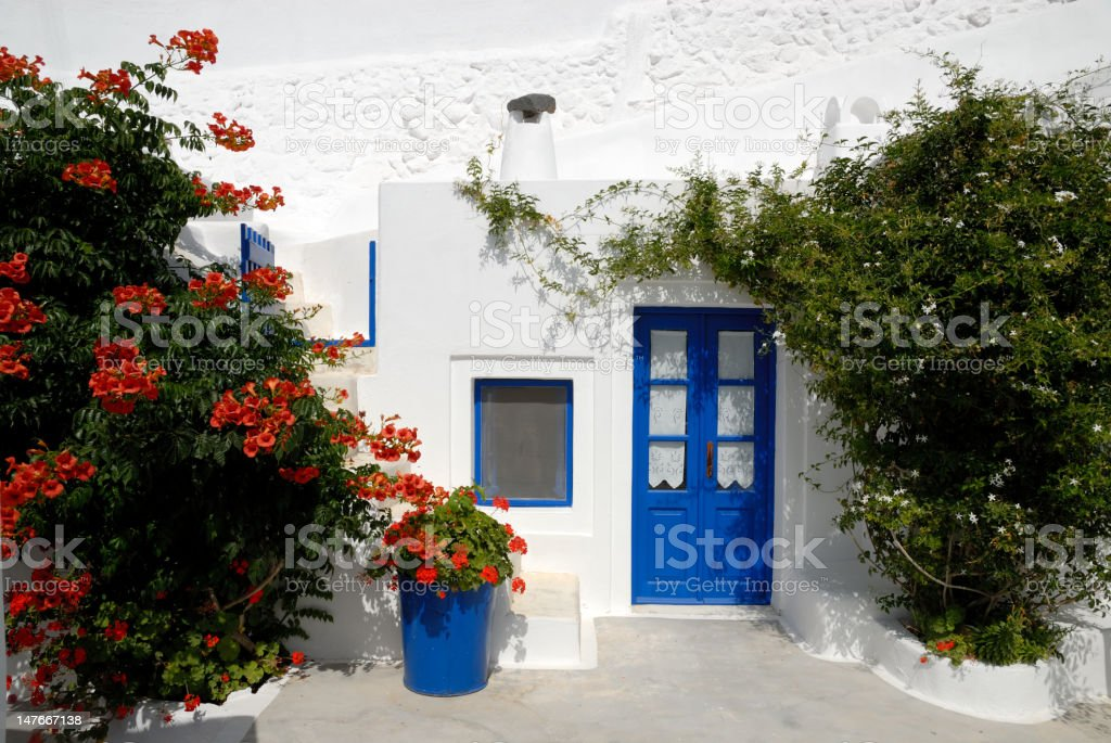 Traditional house in Greece royalty-free stock photo