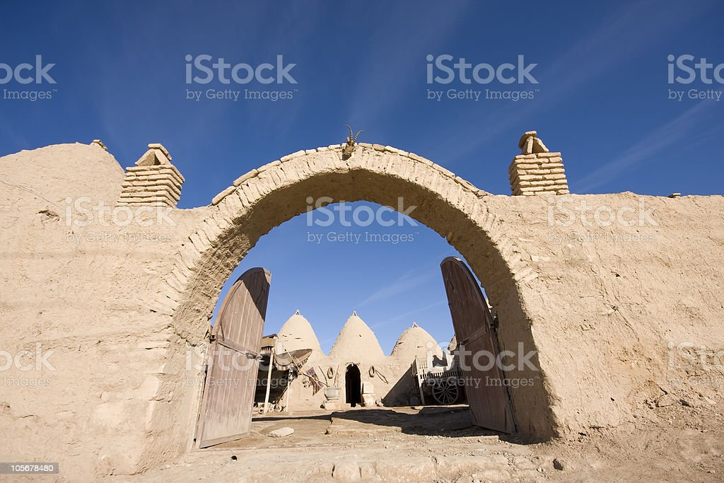 Traditional House Of Village In Sanliurfa royalty-free stock photo