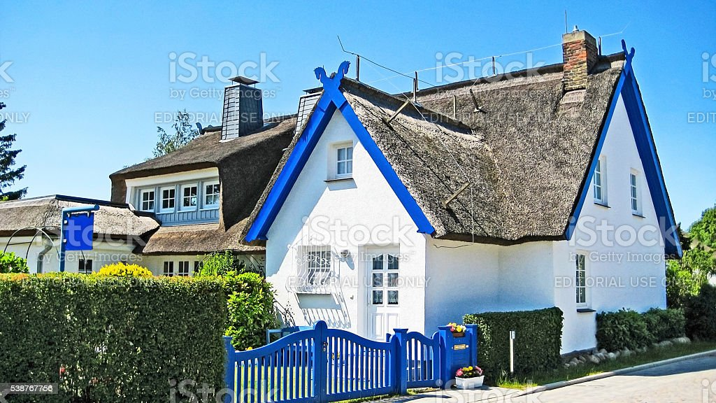 Traditional house, Wustrow stock photo