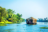 Traditional Houseboat on Kerala Backwaters