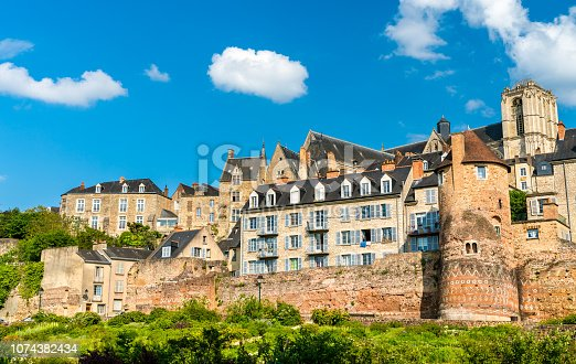 Traditional houses behind the city wall in Le Mans - Pays de la Loire, France