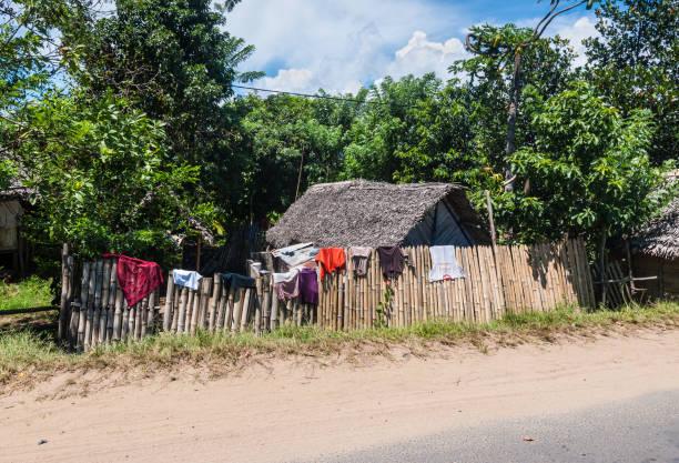 Traditionele huizen in Madagaskar foto