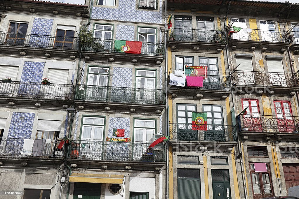 Traditional houses in Porto stock photo