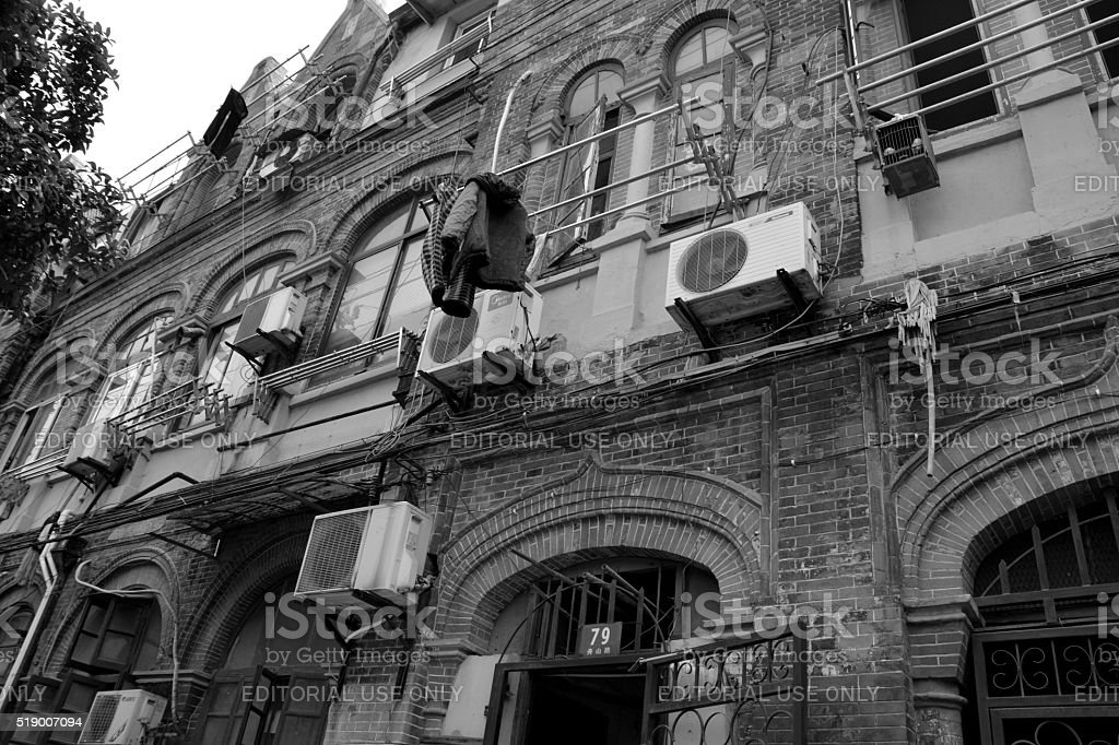 Traditional houses in Shanghai jewish quarter, China stock photo