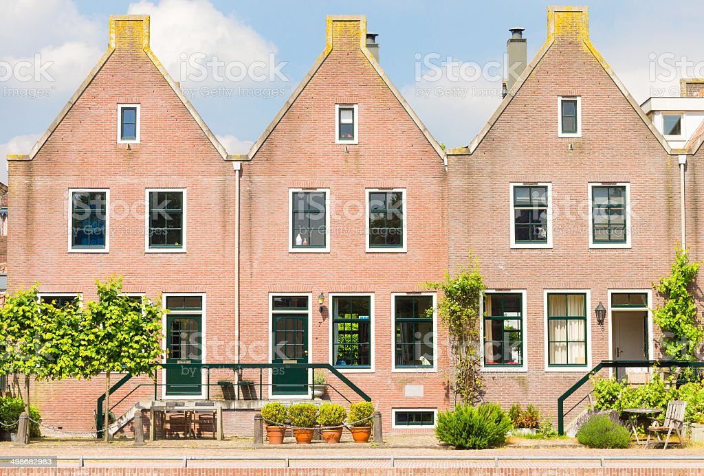 Traditional houses in the Netherlands stock photo