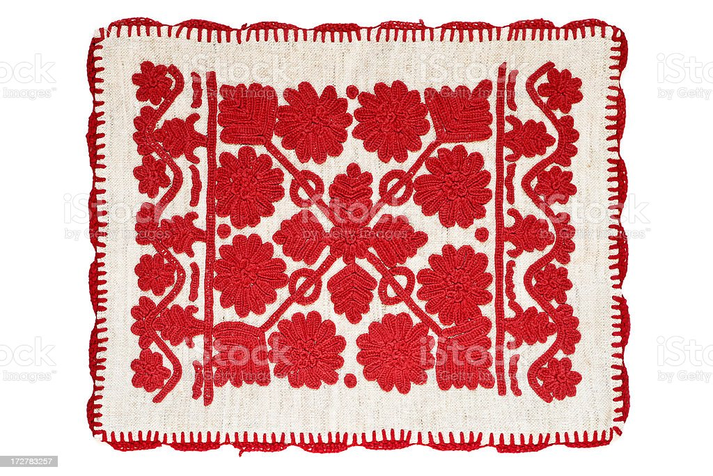 Traditional Hungarian Embroidery royalty-free stock photo