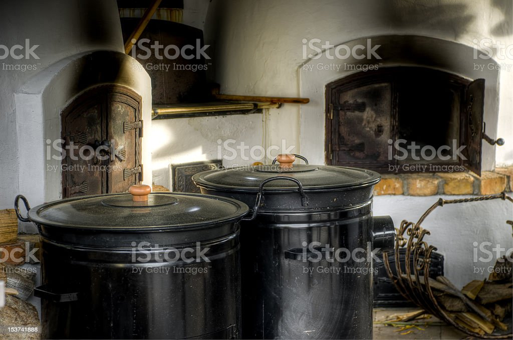 Traditional hungarian rural kitchen royalty-free stock photo