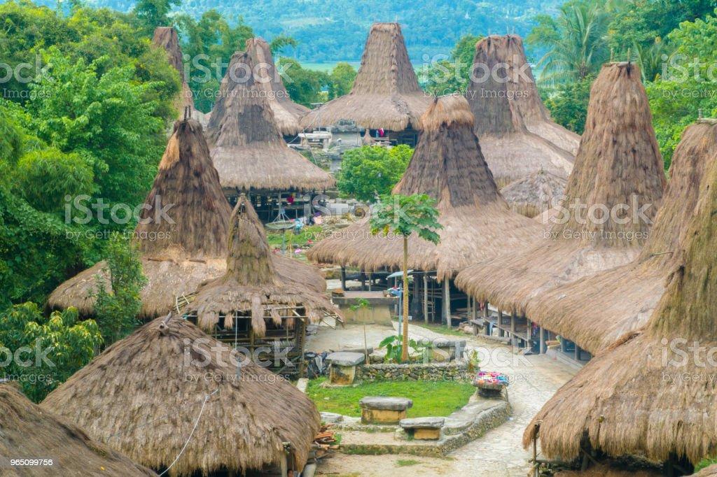 Traditional Hut, Kampung Adat Praijing royalty-free stock photo
