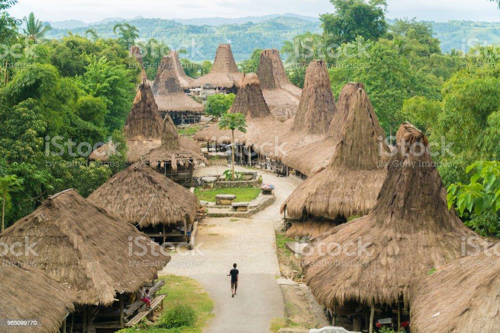 Traditional Hut, Kampung Adat Praijing zbiór zdjęć royalty-free