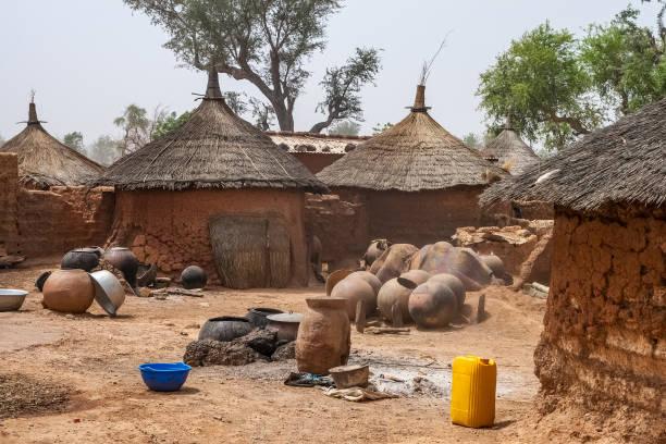 Urige Hütten, Burkina Faso, Westafrika – Foto