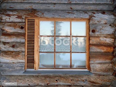 Traditional icelandic wooden facade