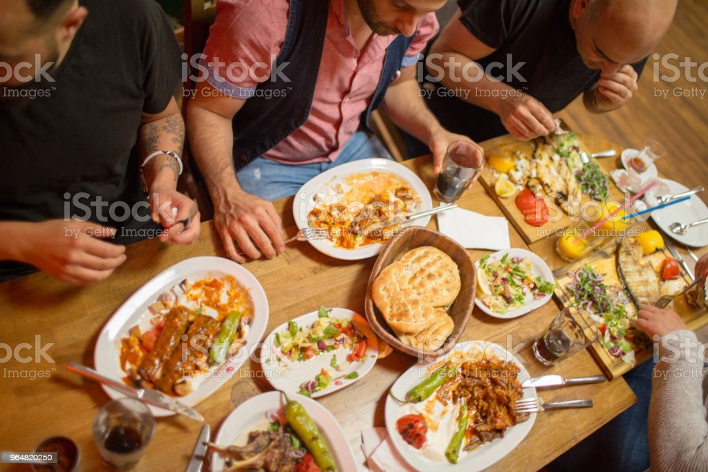Traditional Iftar dinner royalty-free stock photo