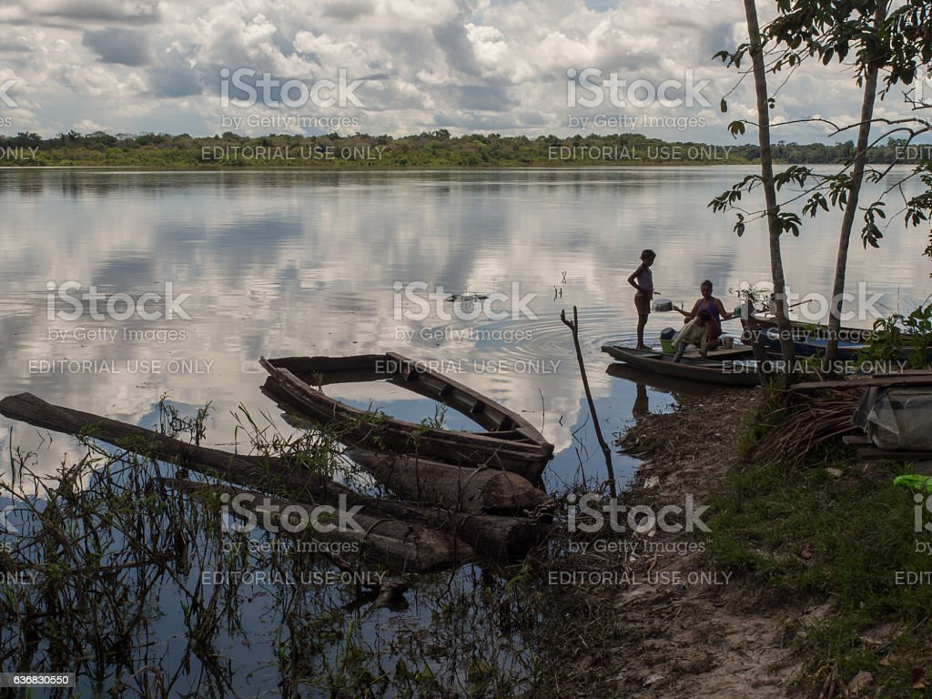 Traditional, indian  boats stock photo