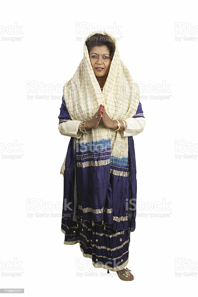 Traditional Indian Clothing Full Body royalty-free stock photo