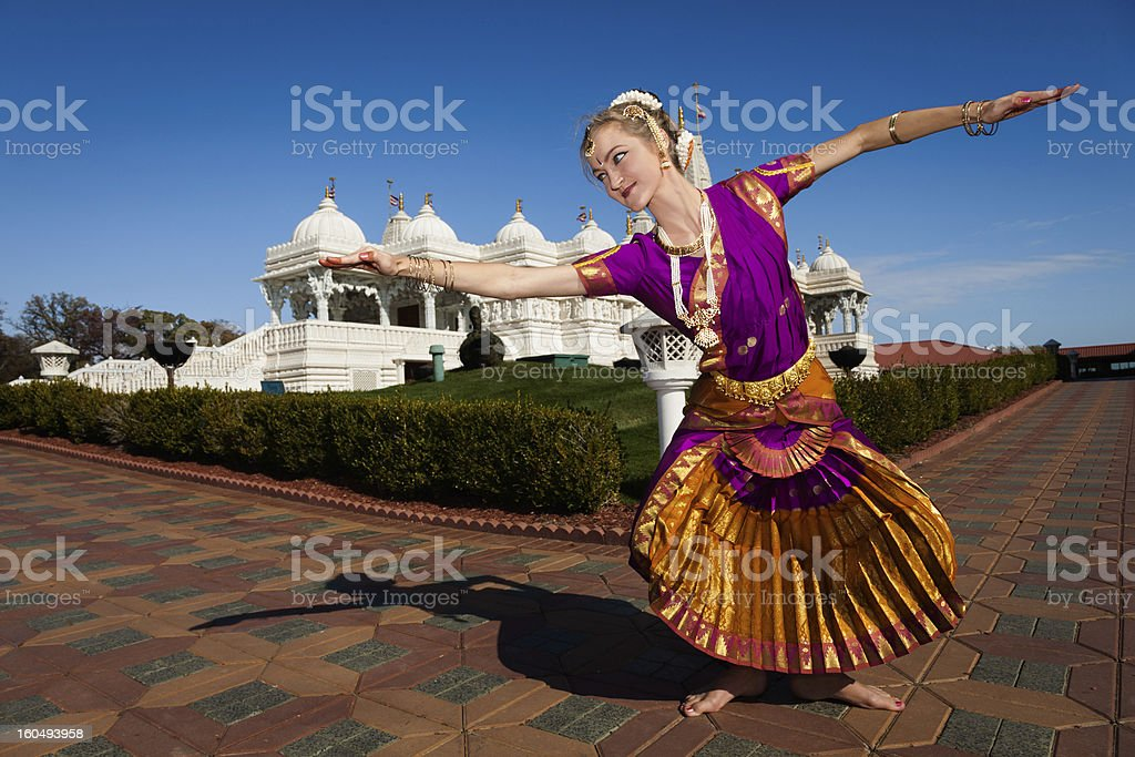 Traditional Indian Dance Performer royalty-free stock photo