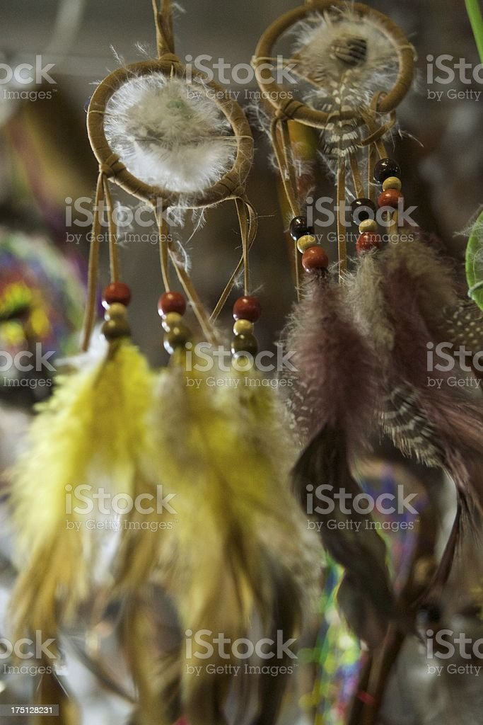 Traditional indian dreamcatchers royalty-free stock photo